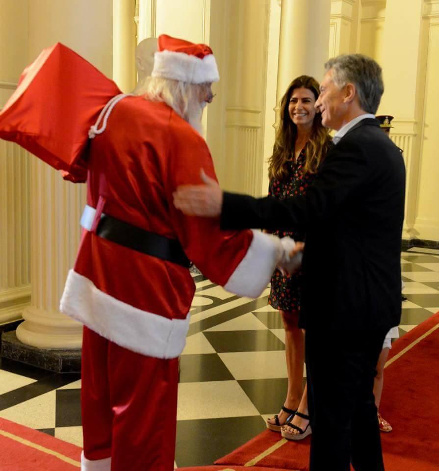 P. Noel con el presidente